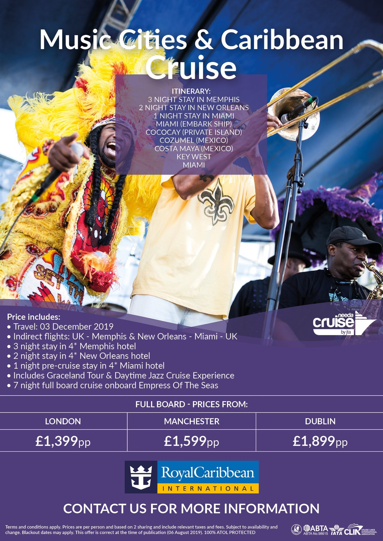 New Orleans and Caribbean Cruise offer